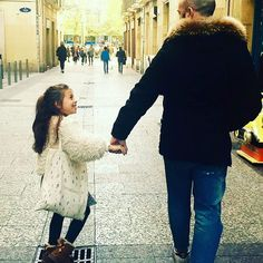 """I'm remembering when we were walking together and I saw you smiling, then I told you. """" Daddy, you'll never walk alone"""". #smallable #tocotovintage #spainkids #spain #happyday #happy #family #pequeñagafotas#  #Regram via @beautiful_carlotta"""