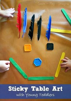 Opened ended, sensory art for toddlers. Safe for little hands, and fun for all ages!