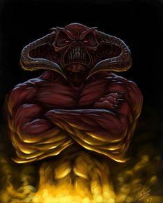 Dark Demon by MrTomLong on DeviantArt Fantasy Images, Fantasy Art, Angel Demon, Werewolf Art, Inner Demons, Satyr, Angels And Demons, Through The Looking Glass, Haunted Places