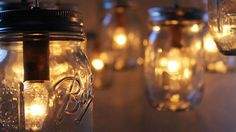 These DIY mason jar
