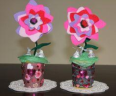 Valentine's Day felt flower gift for children to make.