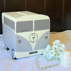 I've just found Campervan Personalised Wooden Wedding Post Box. This wedding…