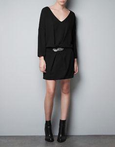 BELTED V-NECK DRESS - Dresses - TRF - ZARA Finland