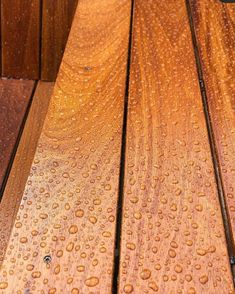 That Water Bead We All Love! Osmo Decking Oils are based on natural oils that penetrate deep inside the wood and protect it from within, and on top. The finest natural protection for your outdoor wooden surfaces. Pictured Colour: 013 Garapa Decking Oil Search 'Osmo Decking' online today 😁 Get Inspired on Instagram: #OsmoOil