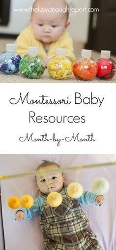 Montessori baby resources from birth through 12 months. Montessori at home from birth.