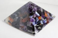 Power Crystals Pyramid for Altar or desk by RiverSilverWolf, $60.00