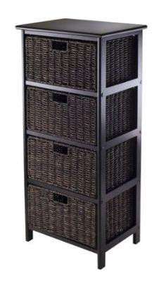 Amazon.com: Winsome Omaha Storage Rack with 4-Foldable Basket: Furniture & Decor