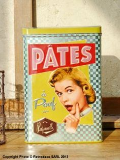 Boite à pâtes Pâtes à Pouf, déco vintage, Natives
