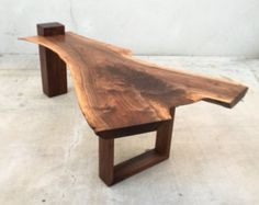 Items similar to Modern Live Edge Claro Walnut Slab Dining Table on Etsy