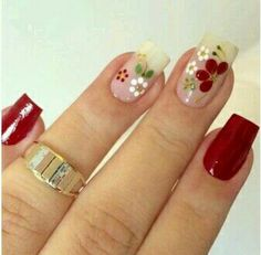 Unhas lindas com adesivos artesanias acesse nosso site www.lojamulhervirtuosa.com Perfect Nails, Gorgeous Nails, Pretty Nails, Daisy Nails, Flower Nails, Sunflower Nail Art, Girls Nails, Manicure E Pedicure, Super Nails