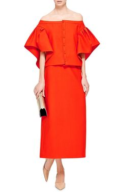 BTE Cotton Top With Ruffle Sleeves by Rosie Assoulin Now Available on Moda Operandi