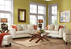 picture of Seattle Cream 5Pc Classic Living Room from Living Room Sets Furniture