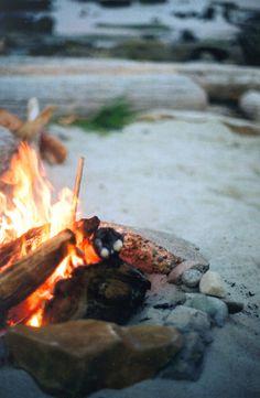 A good wood campfire.
