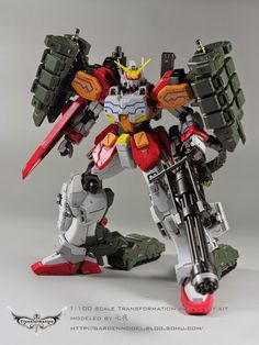 GUNDAM GUY: MG 1/100 Gundam Heavyarms EW + Igel Equipment - Custom Build