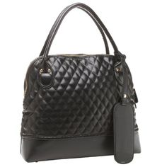 TAMERA Oversized Black Quilted Diamond Pattern Top Double Handle Doctor Style Office Tote Bowler Satchel Handbag Purse Daybag MG Collection,http://www.amazon.com/dp/B00B1096XK/ref=cm_sw_r_pi_dp_Wkoksb1V2JYQMB4A