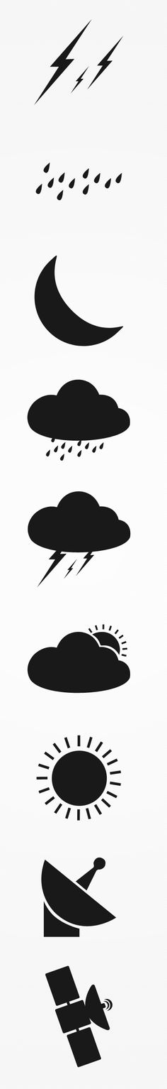 Weather and Satellite Icons by Seevi Kargwal, via Behance Weather Icons, Application Design, Yard Art, Icon Design, Preschool, Behance, Symbols, Inspired, Illustration