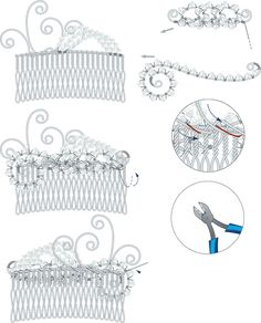 Hair Comb with Swarovski Crystal Beads and Wire - Fire Mountain Gems and Beads