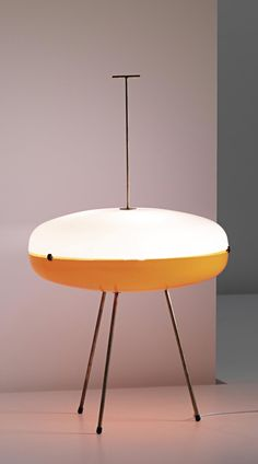 Gio Ponti; Perspex, Brass and Rubber Floor Lamp by Arredoluce, c1957.