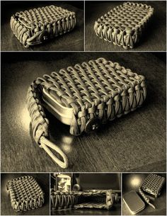 Paracord wrap for survival tin or cards...