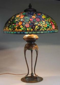 Tiffany Reproduction Lamps: How Valuable Can They Be?: Reproduction Tiffany Lamp with Fruit Shade Sold for $5,400