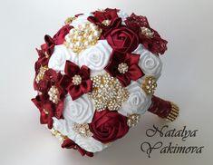 Brooch Bouquet, Bridal Bouquet, Wedding Bouquet, Fabric Bouquet, Unique Wedding…