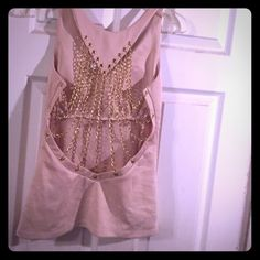 Chained back nude top Size large new with tag Tops