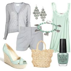 Soft summer pastels, created by luchenskil on Polyvore