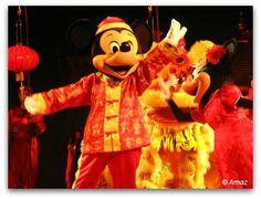 Mickey at Disneyland Hong Kong Chinese New Year Show