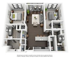The floorplan for C1 || Chapel Hill North Apartments