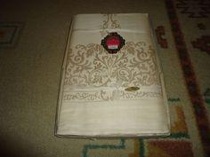 Vintage 1950's NOS NIB Cotton/Rayon Damask Tablecloth & 12 Napkins. #Unbranded