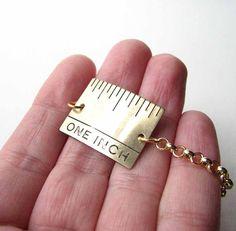 one inch ruler bracelet hair stylists friend by friendlygesture