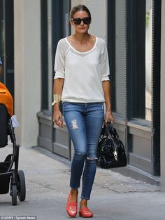 Always stylish: Olivia is proof that a true fashionista never really has a day off