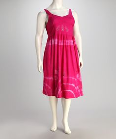 Take a look at this Pink Tie-Dye Plus-Size Dress by Unity: Plus-Size on @zulily today!