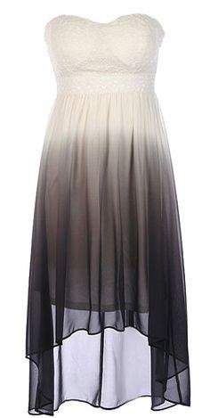 Ombre Illusion Dress