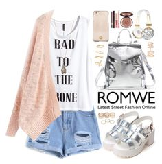 """""""Romwe"""" by oshint ❤ liked on Polyvore featuring Charlotte Tilbury, H&M, Loeffler Randall, Pamela Love, Tory Burch, BP., Repossi, Wet Seal, romwe and lovely"""