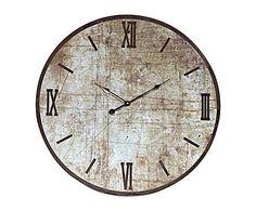 Nostalgia: Reloj de pared de madera – marrón y negro