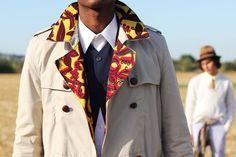 Ankara-lined men's jacket