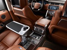 Range Rover Autobiography luxury SUV. This interior has everything