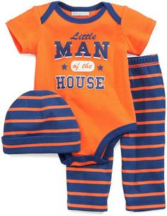 First Impressions Baby Boys' 3-Piece Cap, Bodysuit & Pants on shopstyle.com dillon would love these colors!