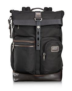 304bec4d0123 Tumi Alpha Bravo Luke Roll-Top Backpack Men - All Accessories - Macy s