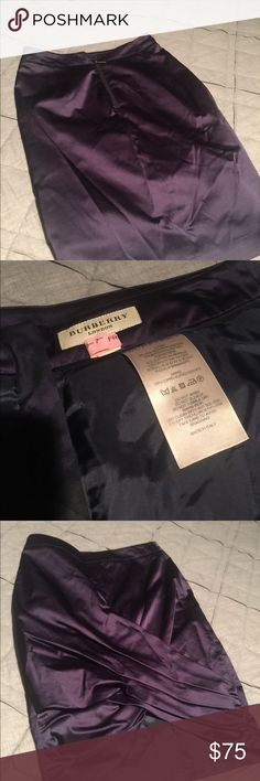 Purple silk Burberry skirt. Size 4 USA Silky, sophisticated. Burberry Skirts Pencil