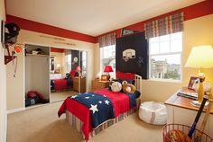 Boys Baseball Theme Rooms Toddler Babies Modern Kids Bedroom