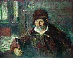Portrait of the Actor Pavel Samoylov, 1915 by Ilya Repin. /. Bakhrushin State Central Theater Museum, Moscow, Russia