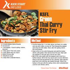 green thai curry stir fry