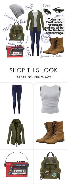 """13 Reasons Why"" by evelyn-18 on Polyvore featuring 7 For All Mankind, T By Alexander Wang, LE3NO, Sarah's Bag, Burberry, The North Face and 13reasonswhy"