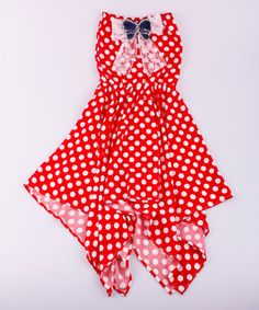 This Red Polka Dot Handkerchief Dress - Toddler & Girls by Mia Belle Baby is perfect! #zulilyfinds