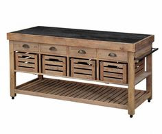Tremendous Oak Kitchen Island Trolley with Recycled Pallet Cabinets and Antique Brass Cup Drawer Pulls Using Black Wood Countertops also Slatted Shelving Unit from Style Kitchen Makeover