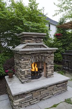 Very cozy fireplace, feels like your in the comfort of your living room but your really enjoying the comfort of your patio! www.pattiegroup.com