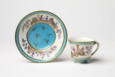 Cup and saucer   Sèvres porcelain factory   V Search the Collections