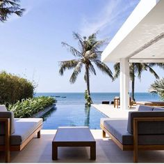 Beautiful and relaxing view of beach and infinity pool.